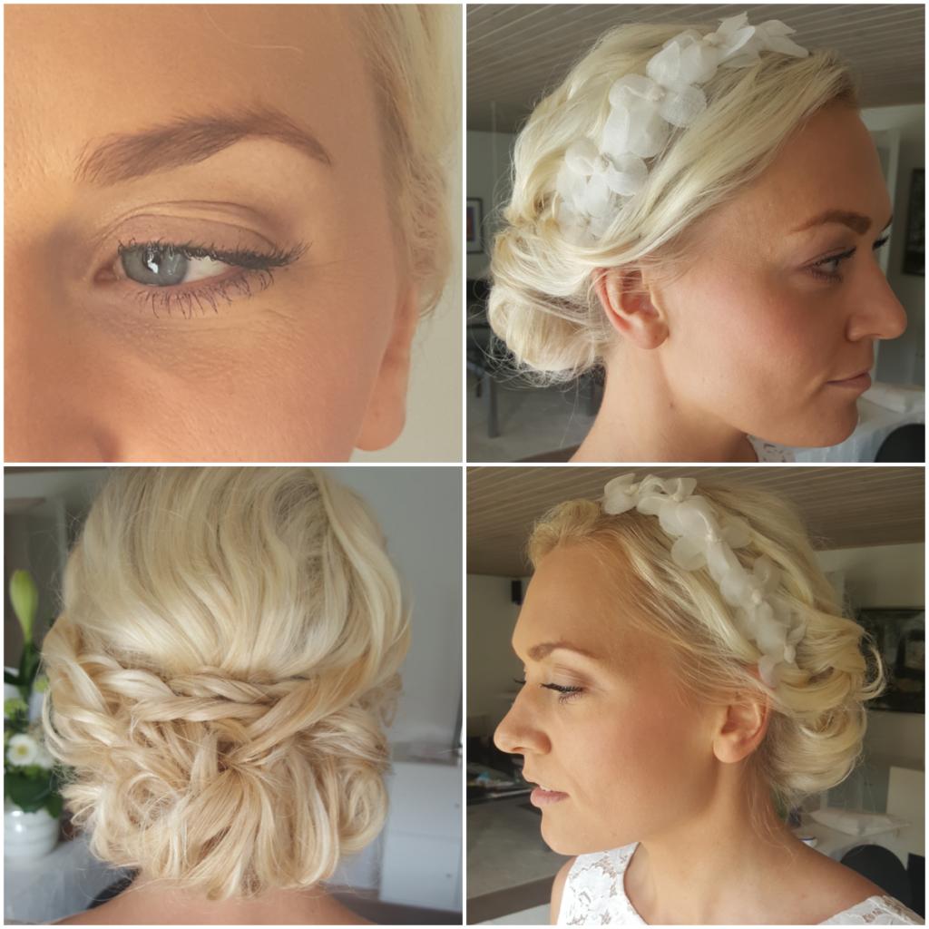 brudemakeup og hårstyling